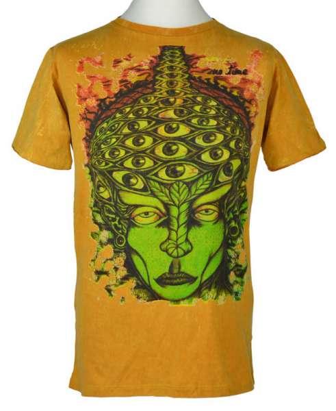 No Time T-Shirt Face, stonewashed senffarben