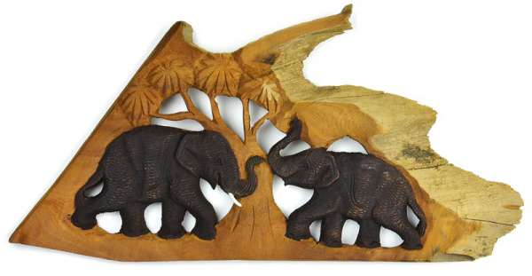 Wandbild Elefant