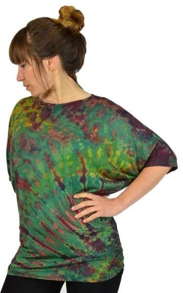 Batik Shirt Hippiechick, grün