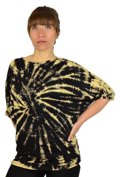 Batik Shirt Hippiechick, schwarz