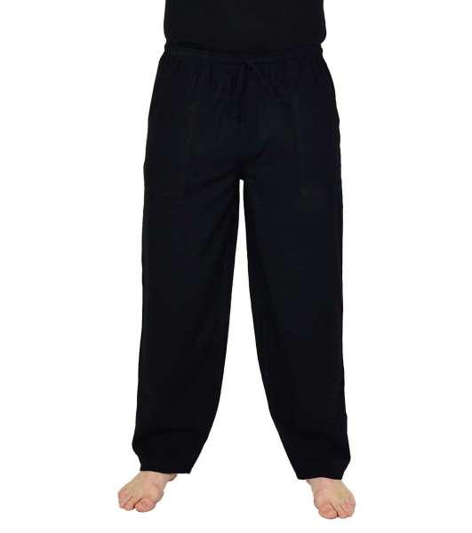 Yogahose /Freizeithose aus Baumwolle für Herren schwarz