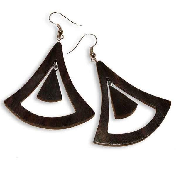 Ohrringe Holz Triangle