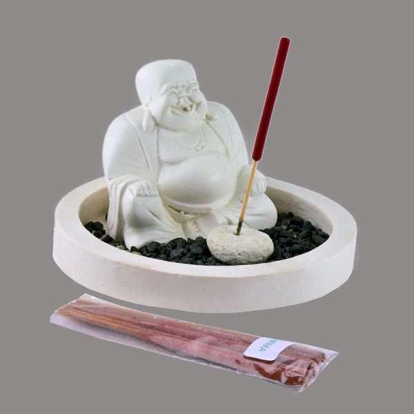 Räucherset Buddha Happy rund