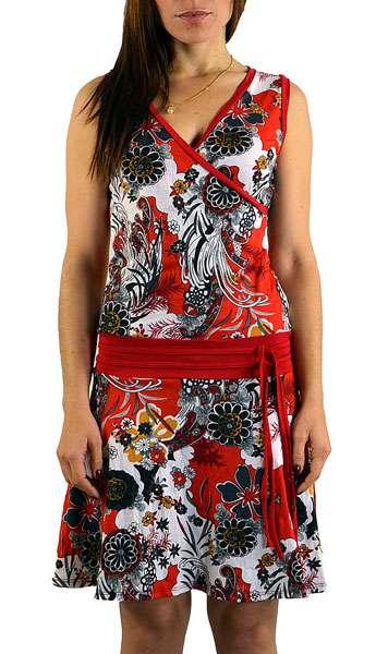 Sommerkleid Blumen rot schwarz