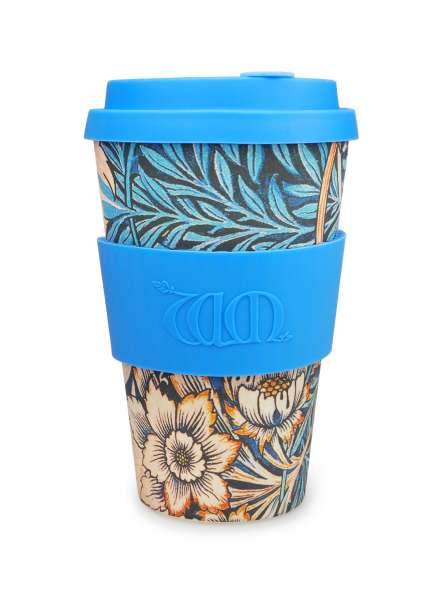 eCoffee Cup 400 ml Bambus Coffee-2-Go Trinkbecher Lilly designed by William Morris