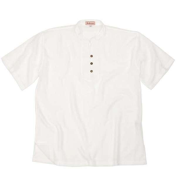 Hemd mit Stehkragen Asia, weiss