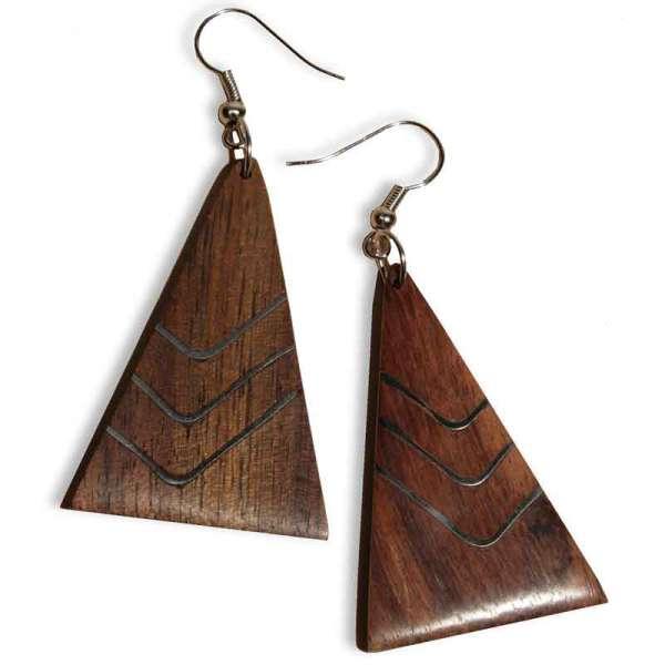Ohrringe Holz 9.4