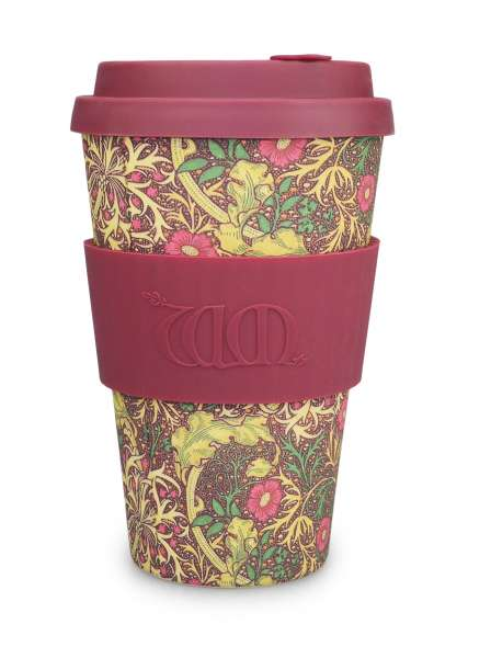 eCoffee Cup 400 ml Bambus Coffee-2-Go Becher Seaweed designed by William Morris
