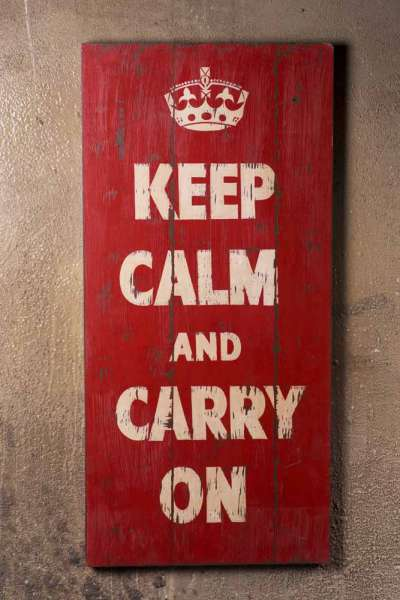 "Vintagebild "" Keep Calm ..."""