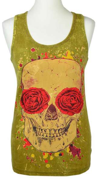 No Time Tanktop Totenkopf, stonewashed