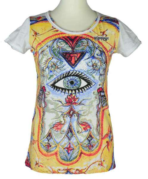 Mirror T-Shirt Allsehende Auge, weiß