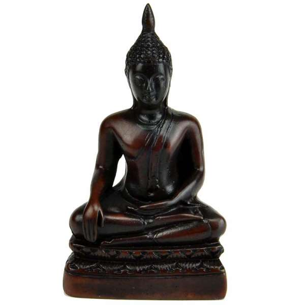 Buddha sitzend Kunstharz