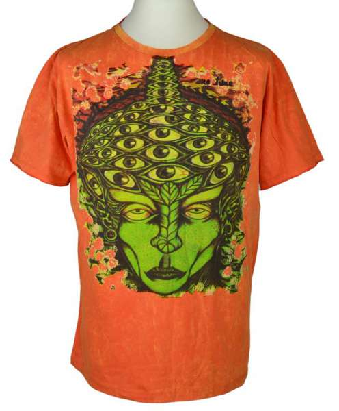 No Time T-Shirt Face, stonewashed orange