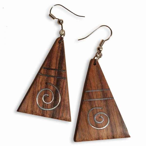 Ohrringe Holz 9.5