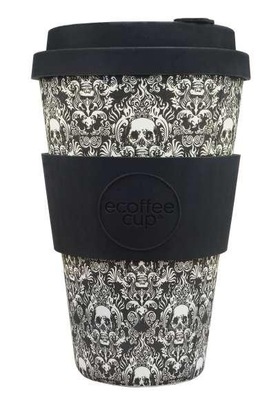 eCoffee Cup 400 ml Bambus Coffee-2-Go Becher Totenkopf Milperra Mutha