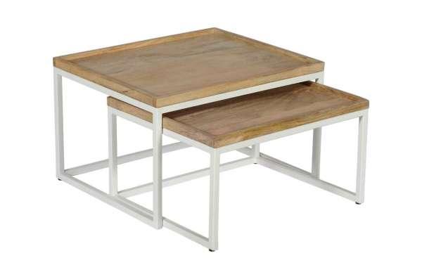 Tisch WÜRFEL Set/2 CLASSIC weiß
