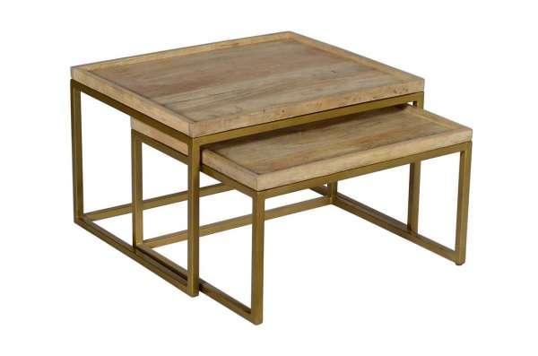 Tisch WÜRFEL Set/2 CLASSIC gold